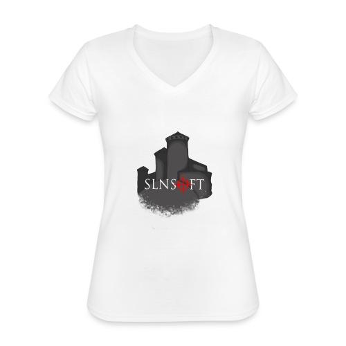 slnsoft - Klassinen naisten t-paita v-pääntiellä