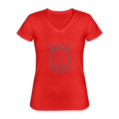 Compass by OliC Clothess (Dark) - Klassisk dame T-shirt med V-udskæring