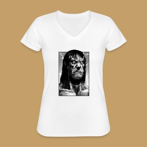 Frankenstein's Monster - Klasyczna koszulka damska z dekoltem w serek