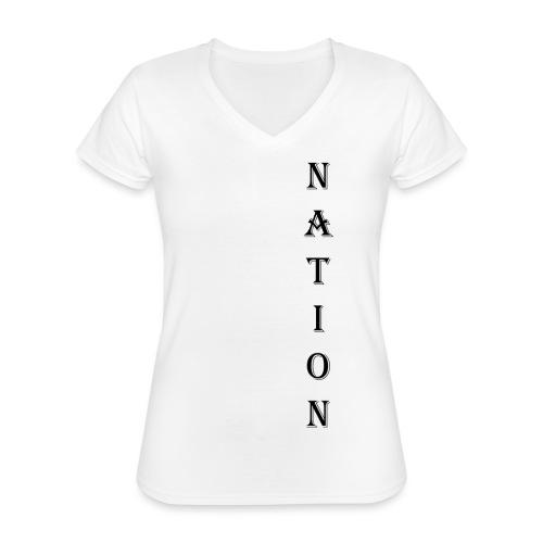 Nation - Klassiek vrouwen T-shirt met V-hals