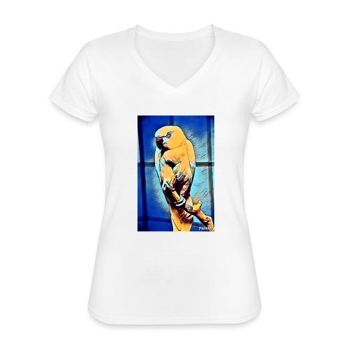Bird in color - Klassinen naisten t-paita v-pääntiellä