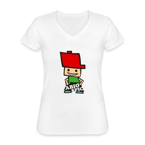 Fabio Spick - Klassisches Frauen-T-Shirt mit V-Ausschnitt