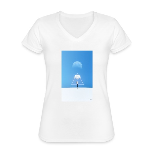 magestic blind - Camiseta clásica con cuello de pico para mujer