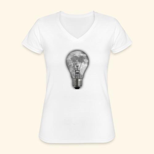 moon bulb - Camiseta clásica con cuello de pico para mujer