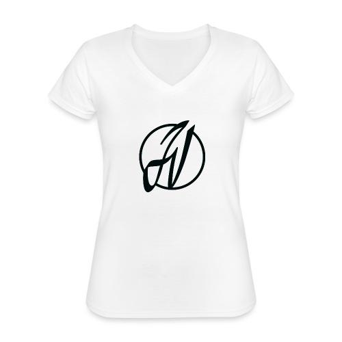 JV Guitars - logo noir - T-shirt classique col V Femme