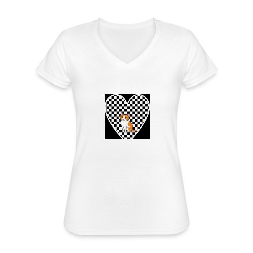Charlie the Chess Cat - Classic Women's V-Neck T-Shirt