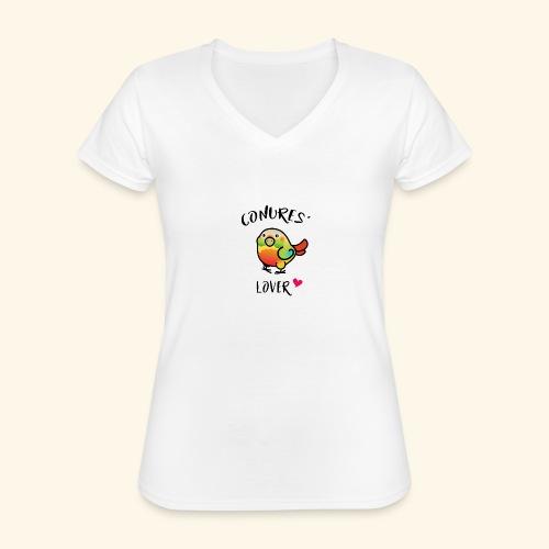 Conures' Lover: Ananas - T-shirt classique col V Femme
