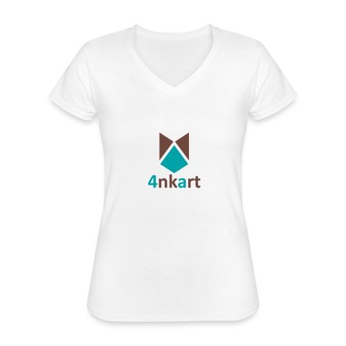 logo 4nkart - T-shirt classique col V Femme
