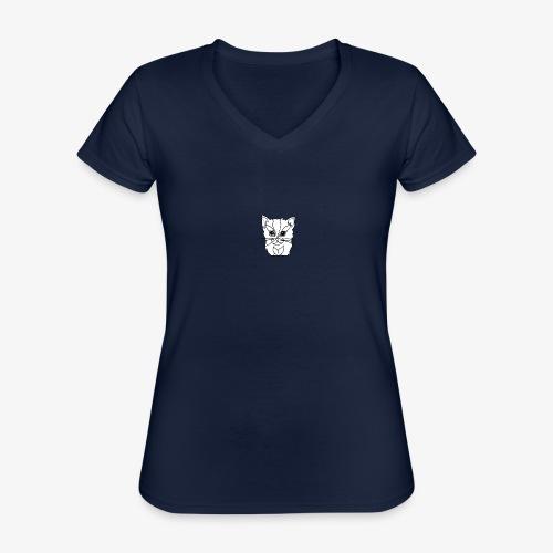 designchatblanc - T-shirt classique col V Femme