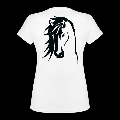 Stallion - Classic Women's V-Neck T-Shirt