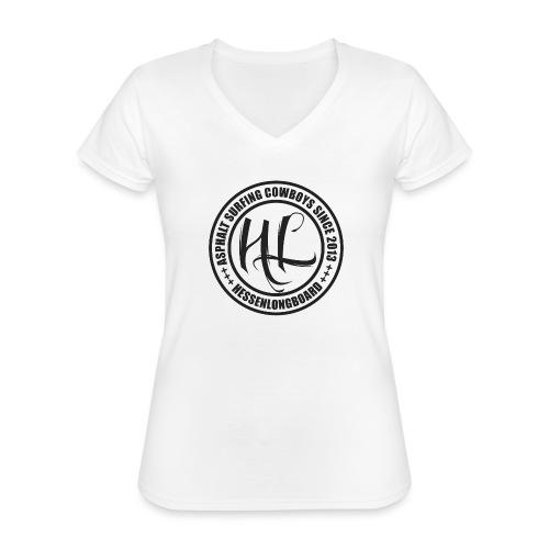 Hessenlongboard® Asphalt Cowboy 2016 - Klassisches Frauen-T-Shirt mit V-Ausschnitt
