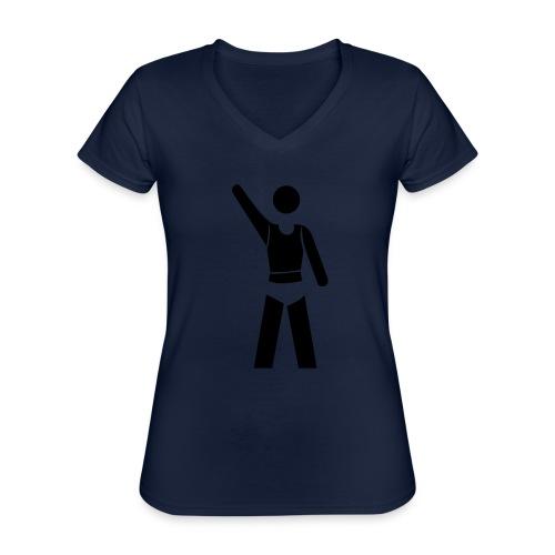 icon - Klassisches Frauen-T-Shirt mit V-Ausschnitt