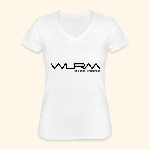 WLRM Schriftzug black png - Klassisches Frauen-T-Shirt mit V-Ausschnitt