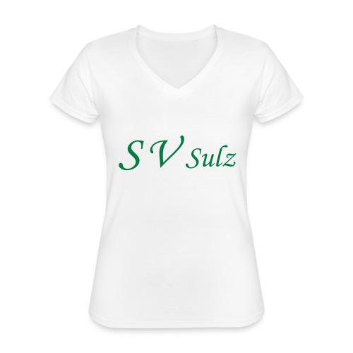 svs schrift 2 - Klassisches Frauen-T-Shirt mit V-Ausschnitt