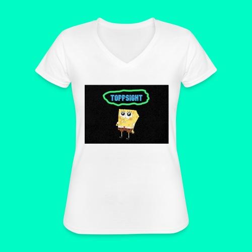 Topsight - Klassisk T-shirt med V-ringning dam