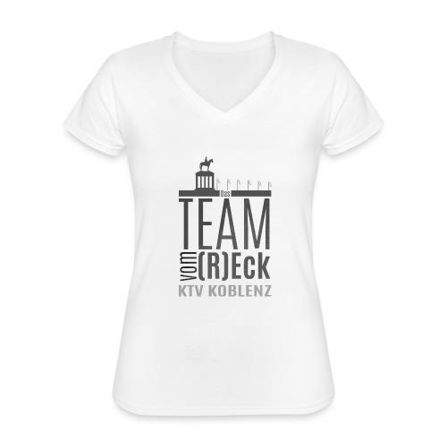 Shirt_Logo_2016_grau - Klassisches Frauen-T-Shirt mit V-Ausschnitt