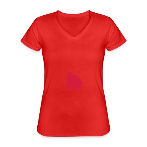 One two - Klassisk dame T-shirt med V-udskæring