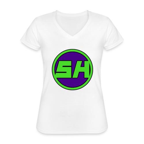 SkyHyperion Classic Colours - White - Classic Women's V-Neck T-Shirt