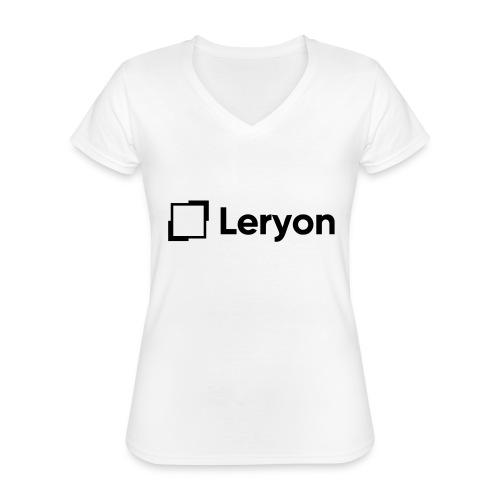 Leryon Text Brand - Classic Women's V-Neck T-Shirt