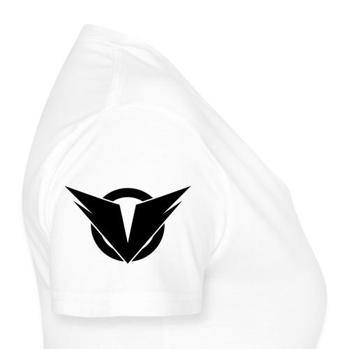 Vintry Logo on back - Klassisches Frauen-T-Shirt mit V-Ausschnitt