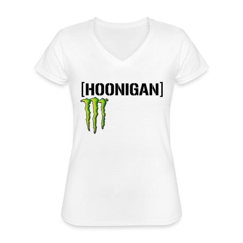 monster energy hoonigan - Klassisk T-shirt med V-ringning dam