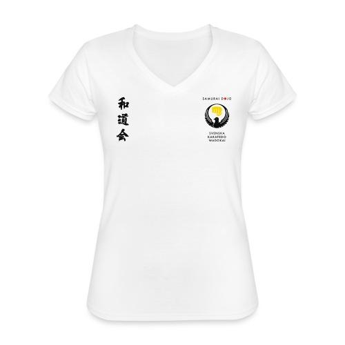 KKSD 3sides white - Klassisk T-shirt med V-ringning dam