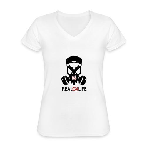 Nuevas Camisas con diseño de ñengo Flow - Camiseta clásica con cuello de pico para mujer