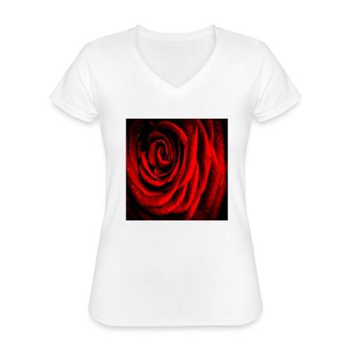 Shoppiful - Maglietta da donna classica con scollo a V