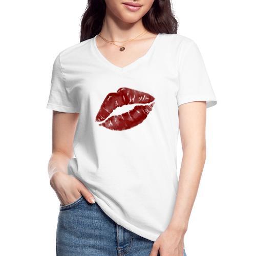 Lips - Klassisk dame T-shirt med V-udskæring