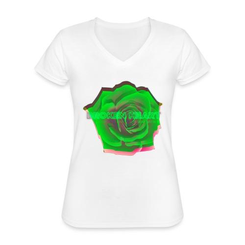 Orel Pressentiert The Flower Thereory - Klassisches Frauen-T-Shirt mit V-Ausschnitt