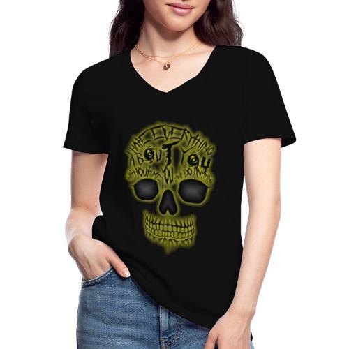 Hate everything - T-shirt classique col V Femme