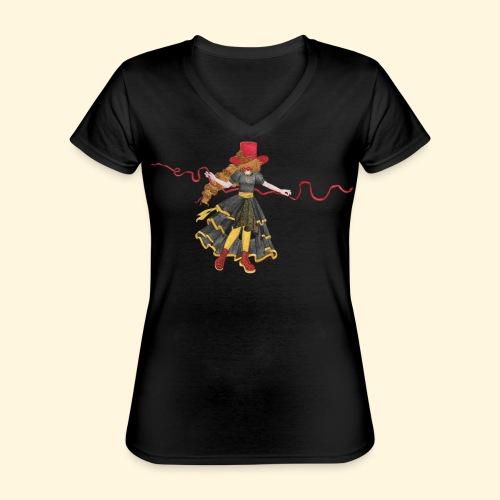 Ladybird - La célèbre uchronaute - T-shirt classique col V Femme