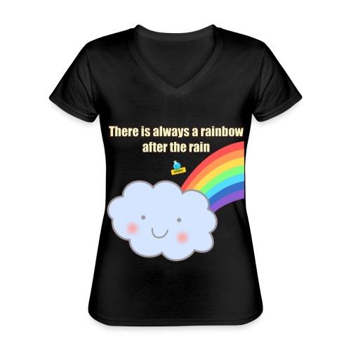 Bubbly! Rainbow - Maglietta da donna classica con scollo a V