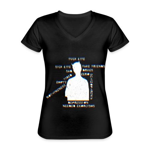 Sick life (white) - T-shirt classique col V Femme