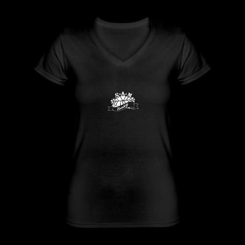 SamShaky - Klassinen naisten t-paita v-pääntiellä