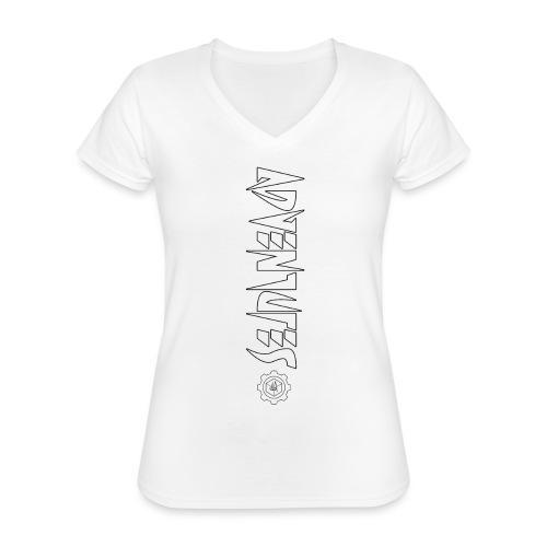 Jebus Adventures Vertical Stripe - Classic Women's V-Neck T-Shirt