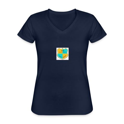 STG Vienna Kickers Logo - Klassisches Frauen-T-Shirt mit V-Ausschnitt