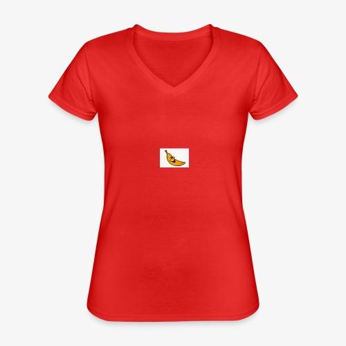 Bananana splidt - Klassisk dame T-shirt med V-udskæring