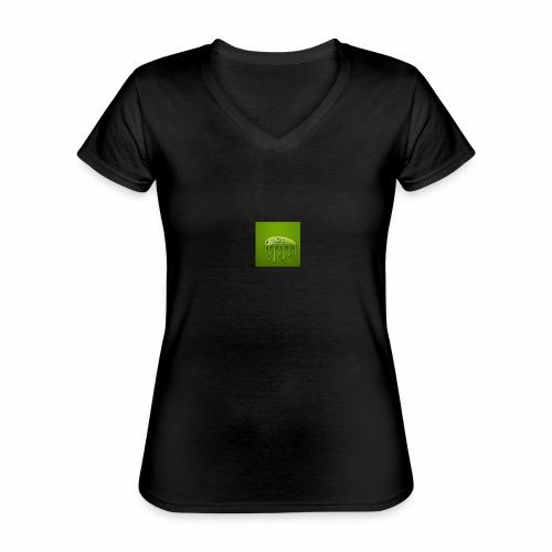 Raksos Logo - Klassisk dame T-shirt med V-udskæring