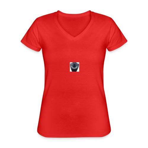 Thinshop - Camiseta clásica con cuello de pico para mujer
