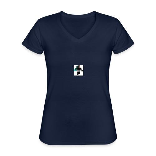 ramera - Camiseta clásica con cuello de pico para mujer