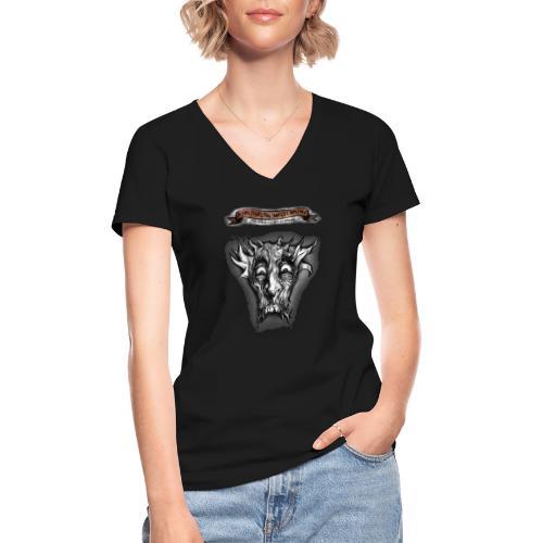 T-shirt del Dio Diaforo Tossidoille - Maglietta da donna classica con scollo a V