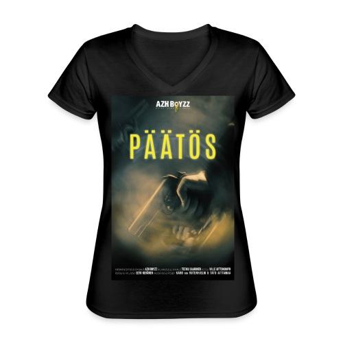 Päätös (1print) - Klassinen naisten t-paita v-pääntiellä
