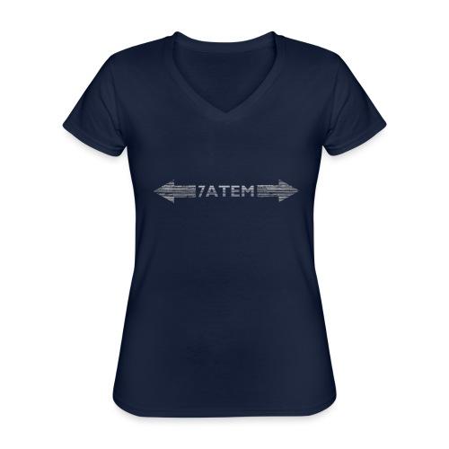 7ATEM - Klassisk dame T-shirt med V-udskæring