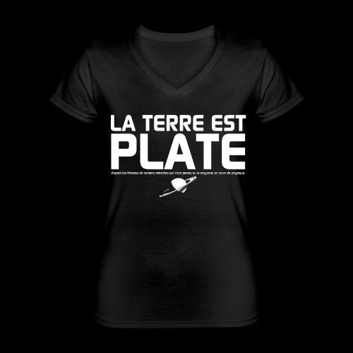 La Terre est Plate - T-shirt classique col V Femme