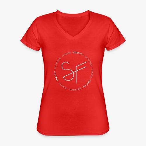 SMAT FIT NUTRITION & FITNESS FEMME - Camiseta clásica con cuello de pico para mujer