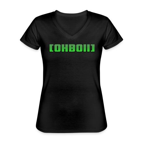 BOIISIGN - Klassisches Frauen-T-Shirt mit V-Ausschnitt