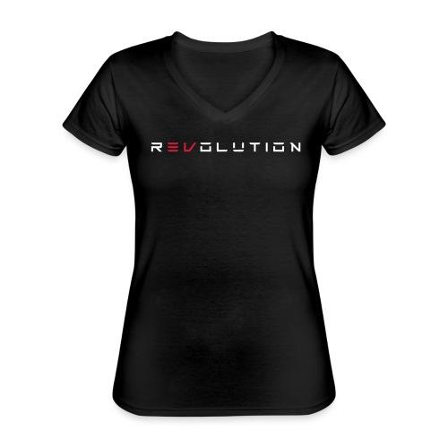 REVOLUTION BLACK - Klassisches Frauen-T-Shirt mit V-Ausschnitt