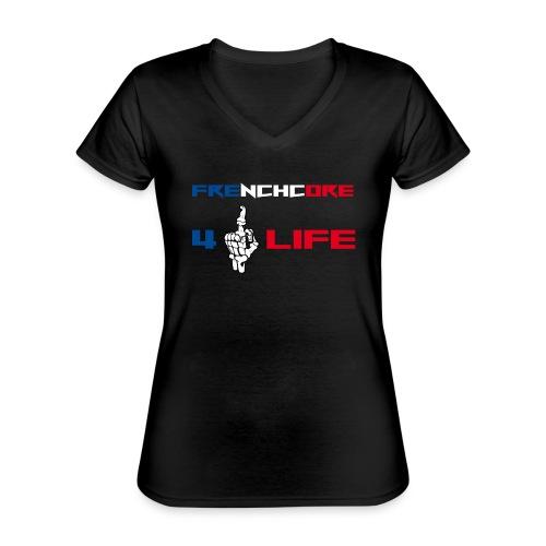 Frenchwear 14 - Klassisches Frauen-T-Shirt mit V-Ausschnitt