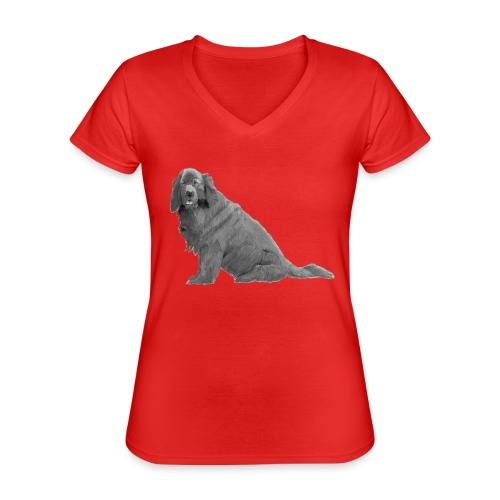 newfoundland - Klassisk dame T-shirt med V-udskæring